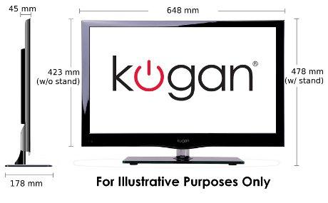 kogan 26 full hd led tv w dvd combo and pvr ebay. Black Bedroom Furniture Sets. Home Design Ideas